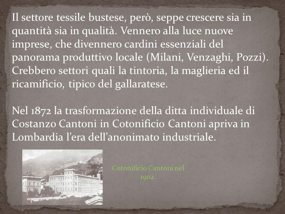 Cotonificio Cantoni nel 1902.