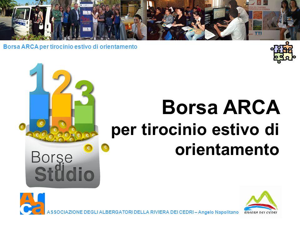 Borsa ARCA per tirocinio estivo di orientamento