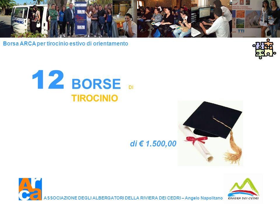 BORSE DI TIROCINIO di € 1.500,00 12