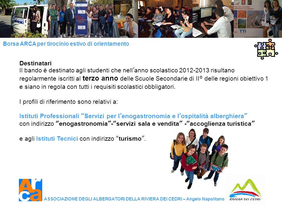 Destinatari Il bando è destinato agli studenti che nell'anno scolastico 2012-2013 risultano.
