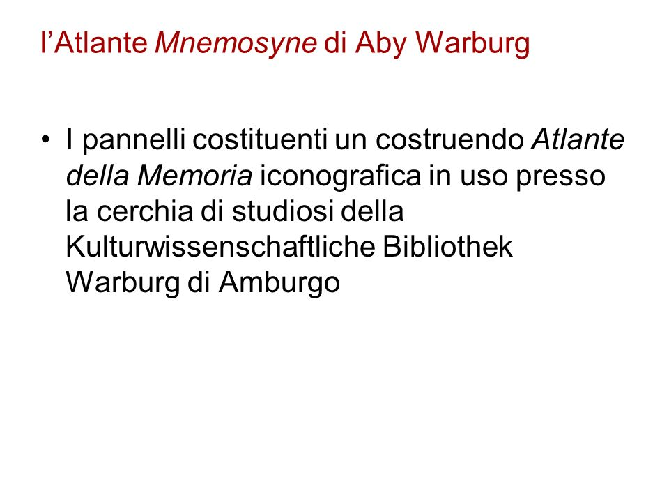 l'Atlante Mnemosyne di Aby Warburg