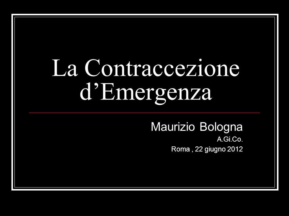 La Contraccezione d'Emergenza