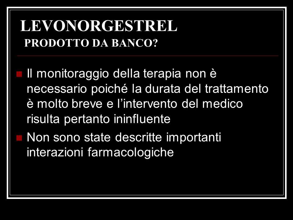 LEVONORGESTREL PRODOTTO DA BANCO
