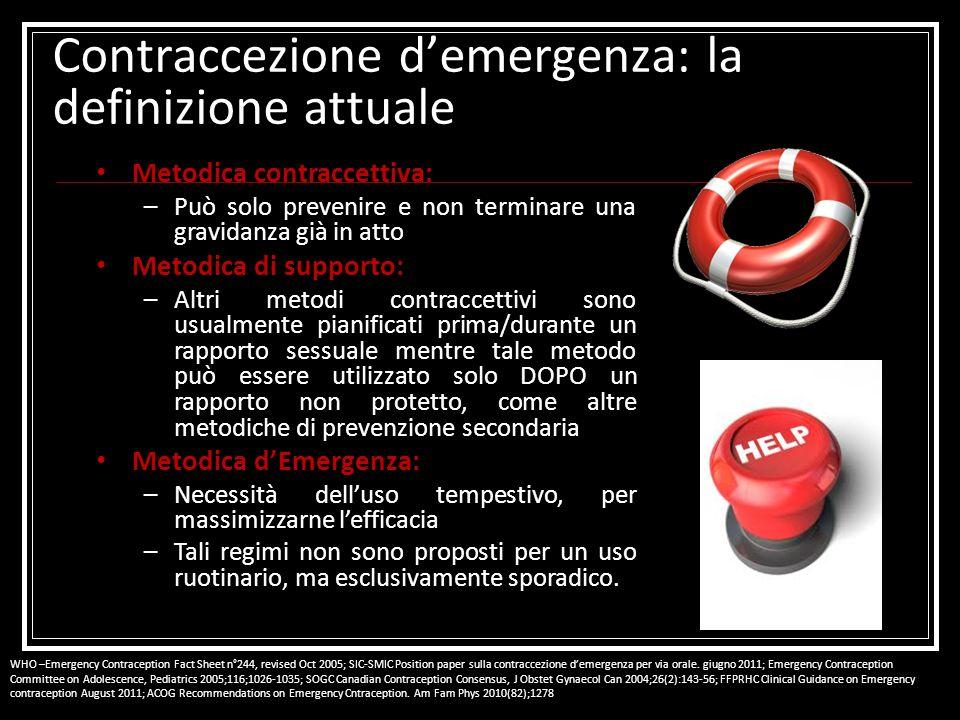 Contraccezione d'emergenza: la definizione attuale