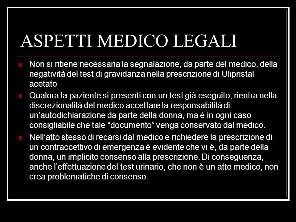 ASPETTI MEDICO LEGALI
