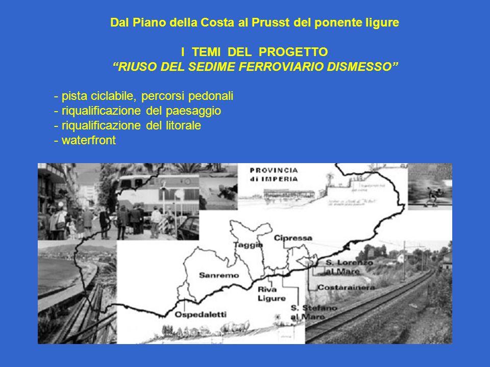 Dal Piano della Costa al Prusst del ponente ligure I TEMI DEL PROGETTO
