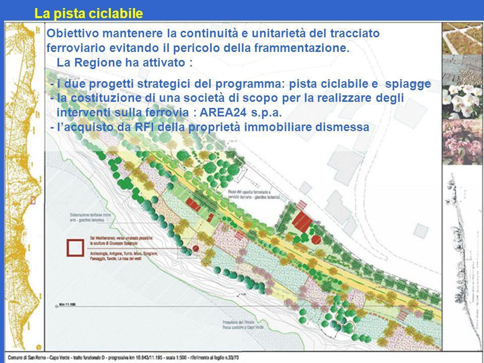 La pista ciclabile Obiettivo mantenere la continuità e unitarietà del tracciato ferroviario evitando il pericolo della frammentazione.
