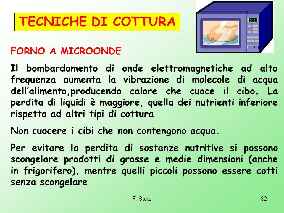 TECNICHE DI COTTURA FORNO A MICROONDE