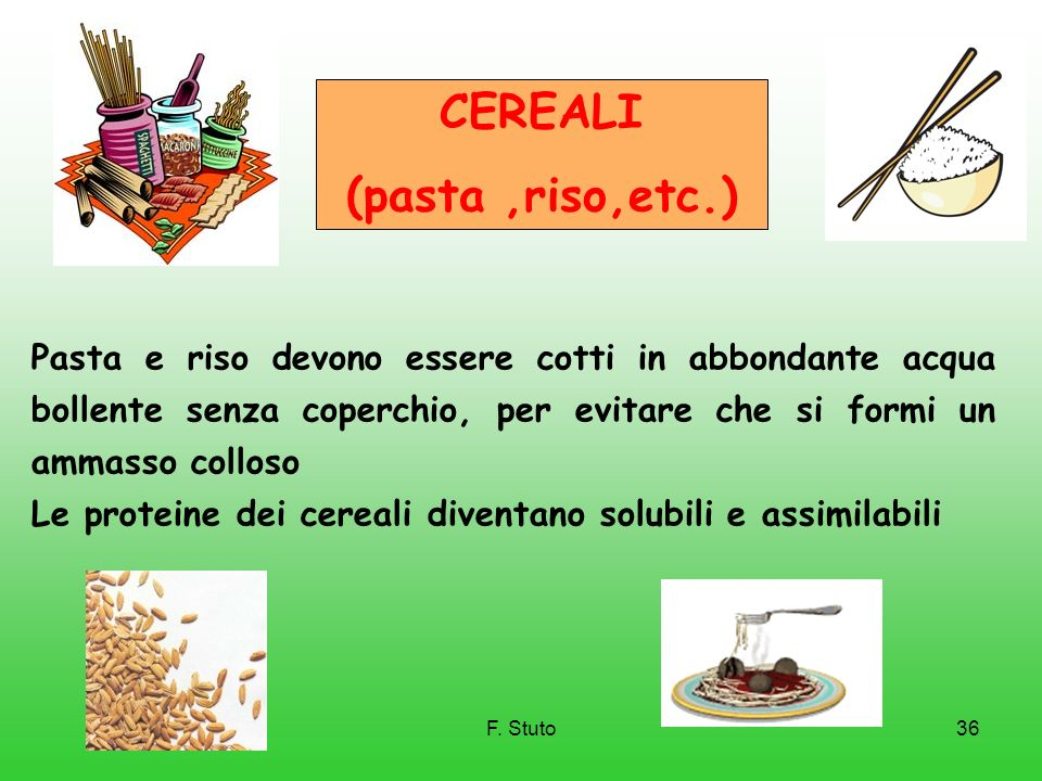 CEREALI (pasta ,riso,etc.)