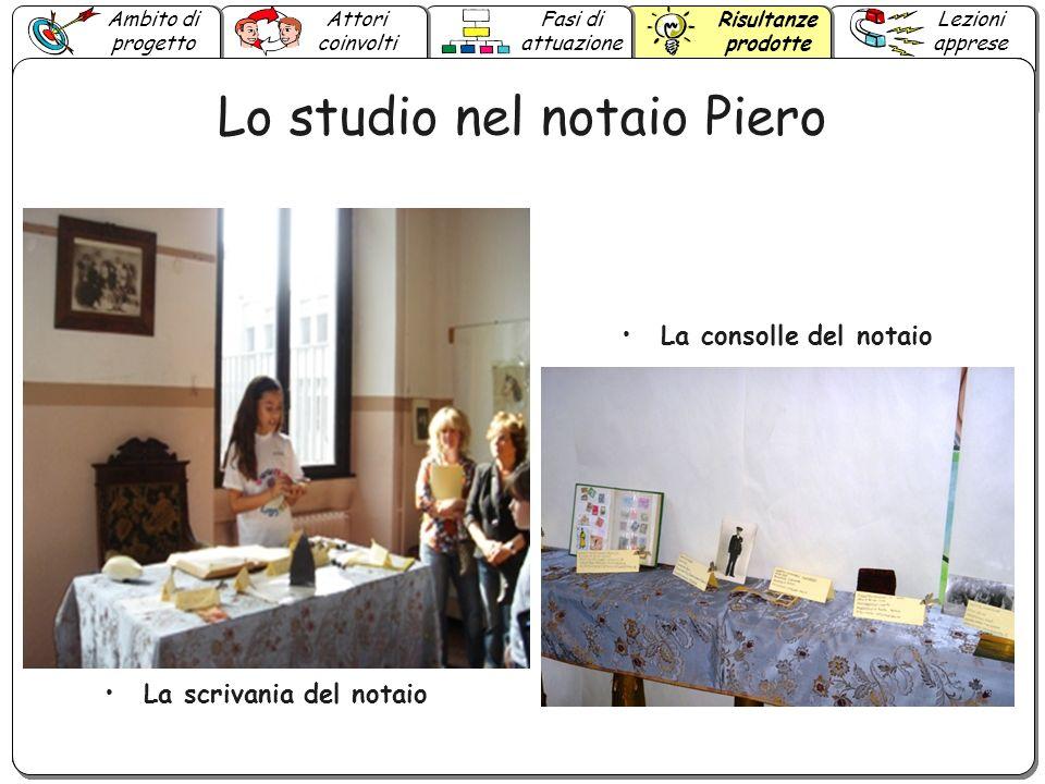 Lo studio nel notaio Piero