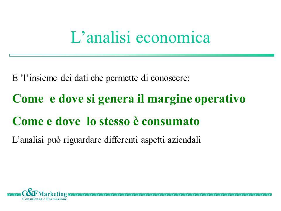 L'analisi economica Come e dove si genera il margine operativo