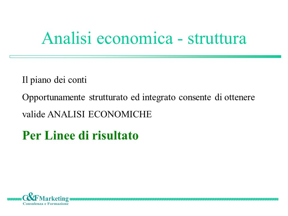 Analisi economica - struttura