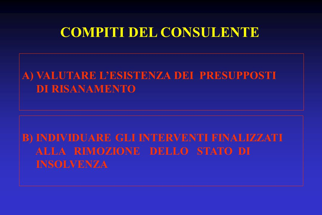 COMPITI DEL CONSULENTE