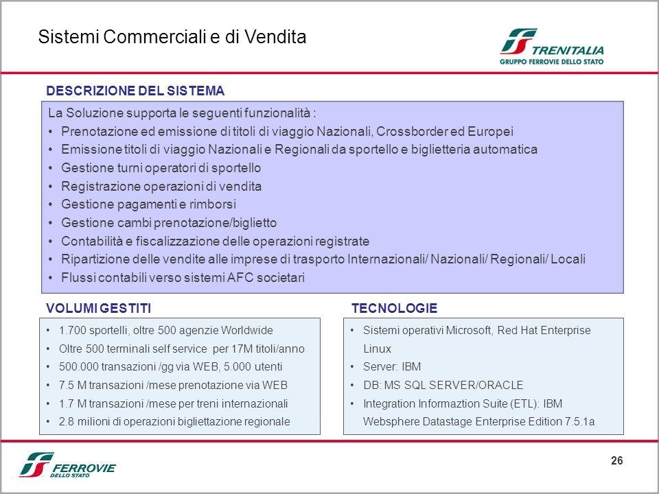 Sistemi Commerciali e di Vendita