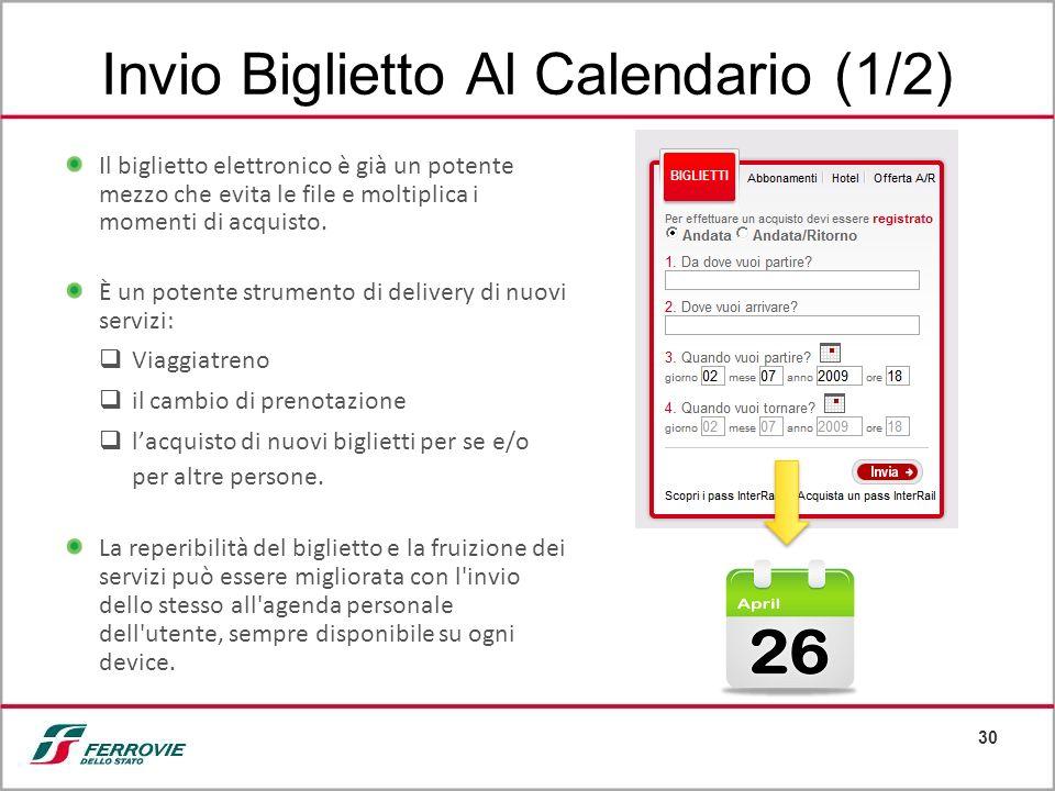 Invio Biglietto Al Calendario (1/2)