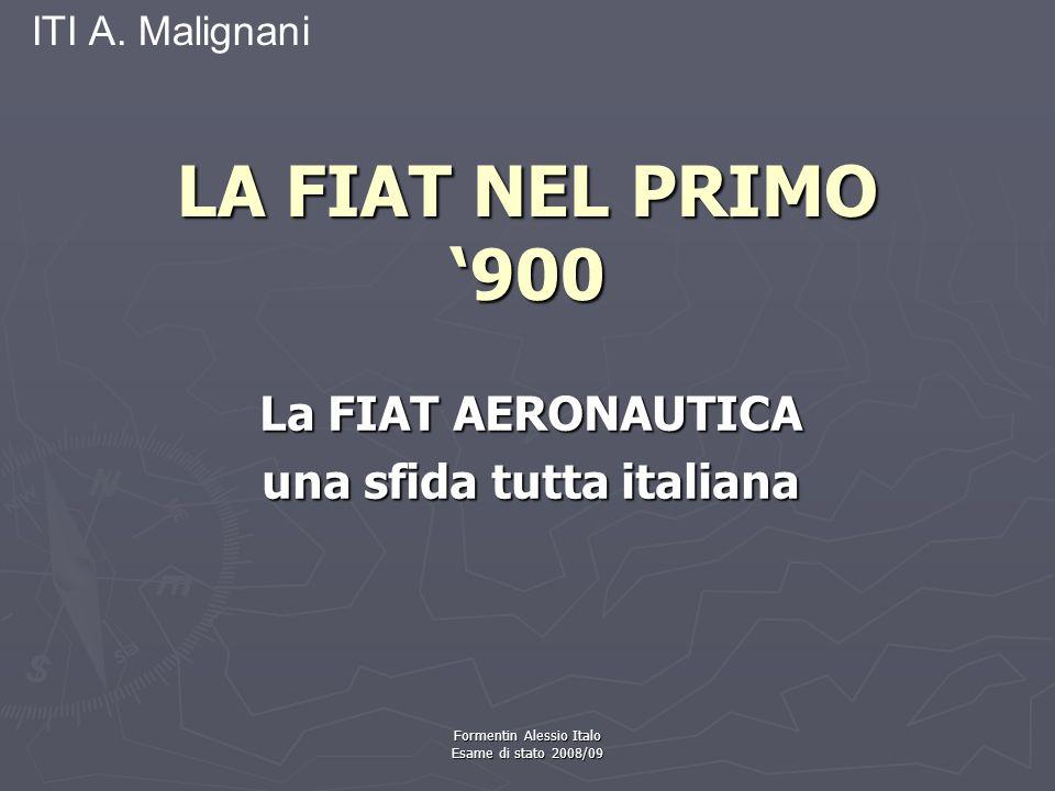 ITI A. Malignani La FIAT AERONAUTICA una sfida tutta italiana