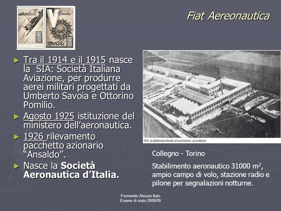 Formentin Alessio Italo Esame di stato 2008/09
