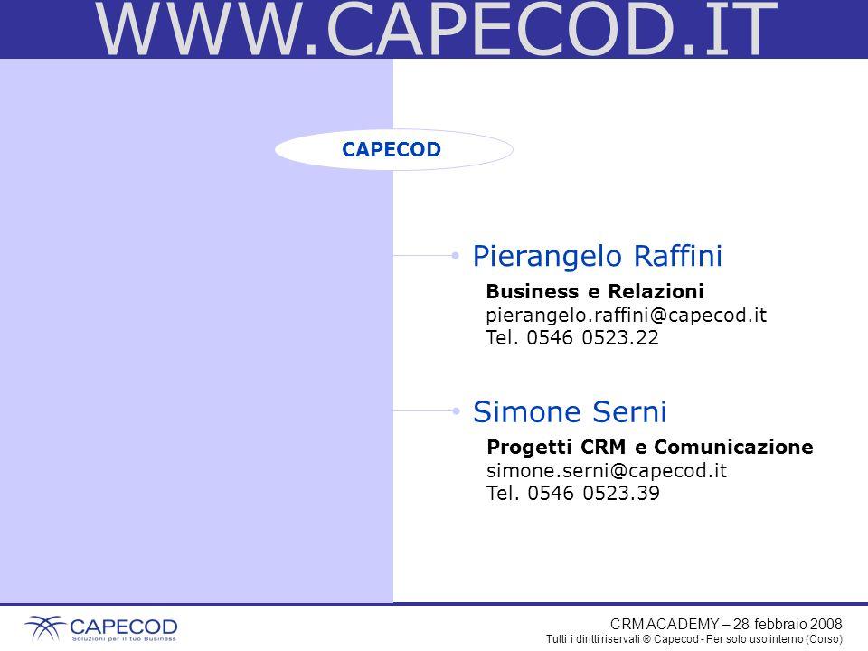 WWW.CAPECOD.IT Pierangelo Raffini Simone Serni CAPECOD