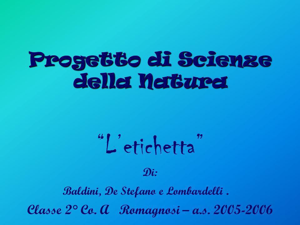 Progetto di Scienze della Natura