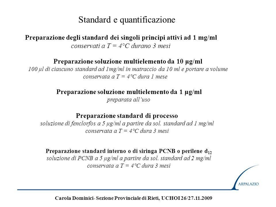Standard e quantificazione
