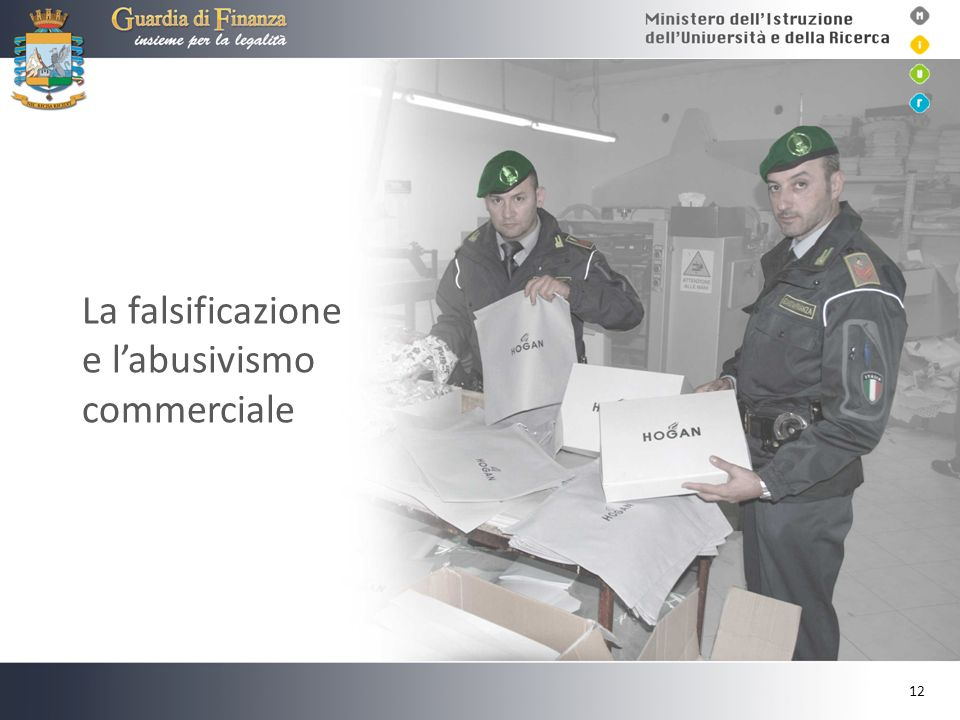 La falsificazione e l'abusivismo commerciale