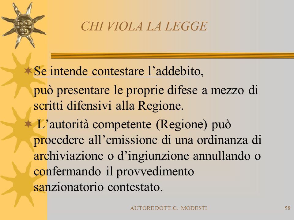 Se intende contestare l'addebito,