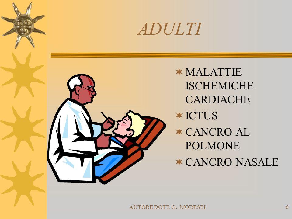ADULTI MALATTIE ISCHEMICHE CARDIACHE ICTUS CANCRO AL POLMONE