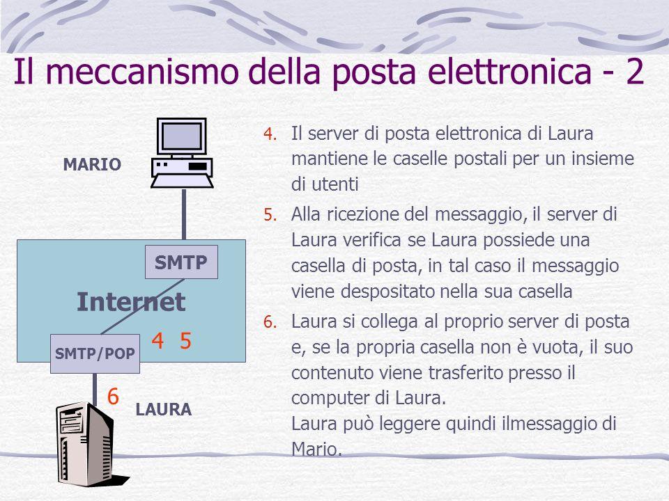 Il meccanismo della posta elettronica - 2