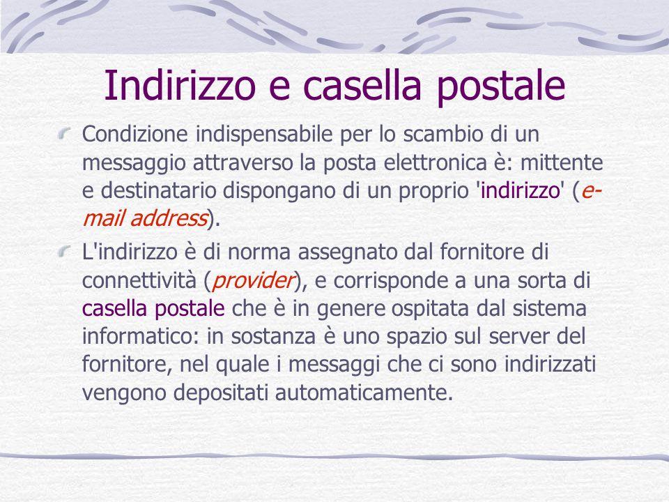 Indirizzo e casella postale