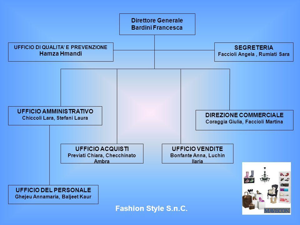 Fashion Style S.n.C. Direttore Generale Bardini Francesca SEGRETERIA
