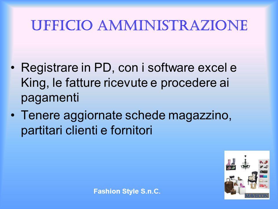 Ufficio amministrazione