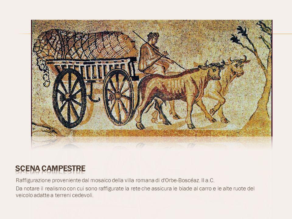 Scena campestre Raffigurazione proveniente dal mosaico della villa romana di d Orbe-Boscéaz. II a.C.