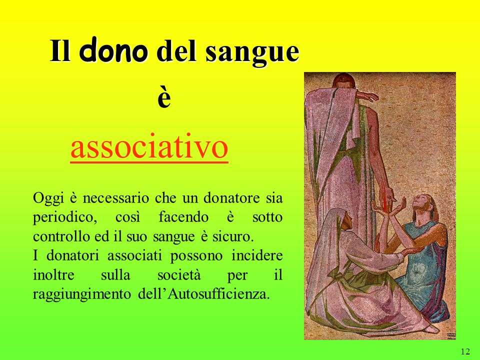 associativo Il dono del sangue è