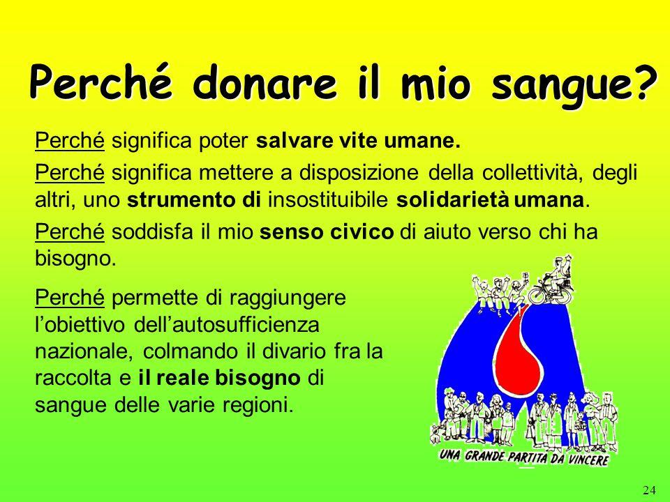 Perché donare il mio sangue