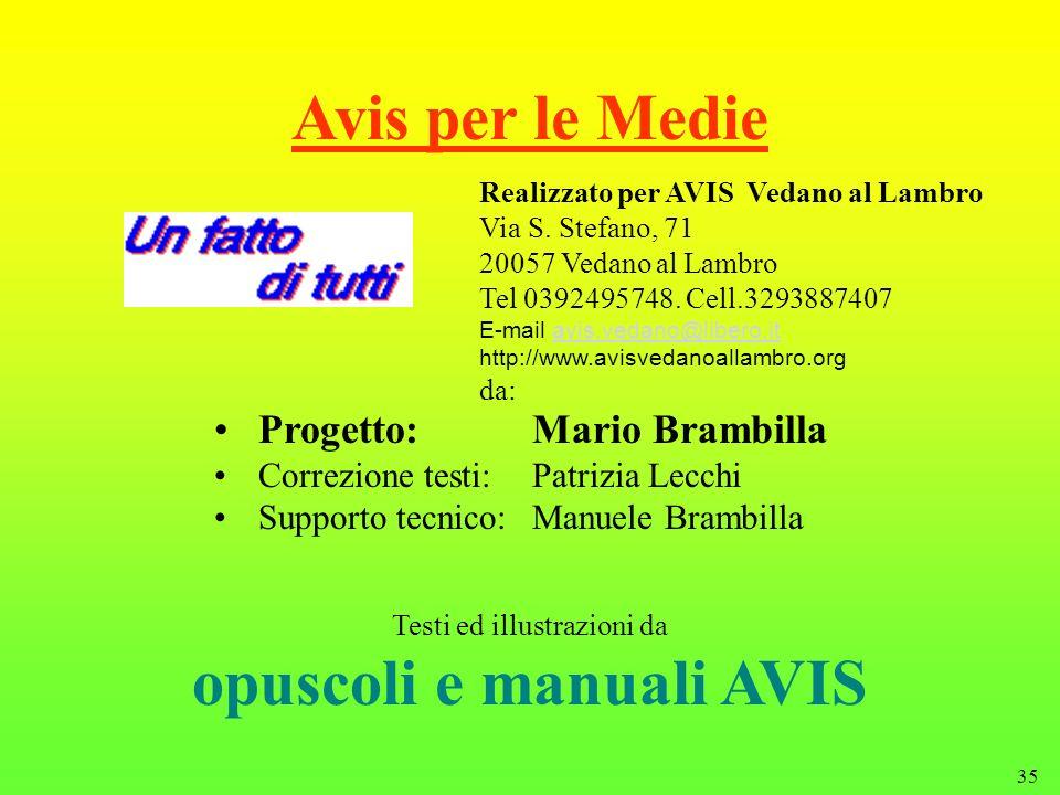 opuscoli e manuali AVIS