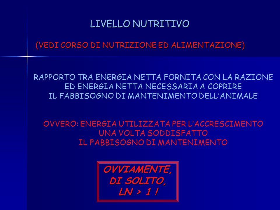 OVVIAMENTE, DI SOLITO, LN > 1 !