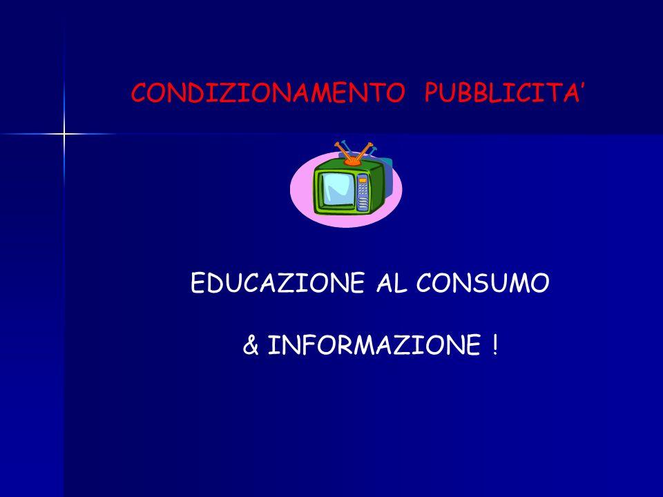CONDIZIONAMENTO PUBBLICITA'