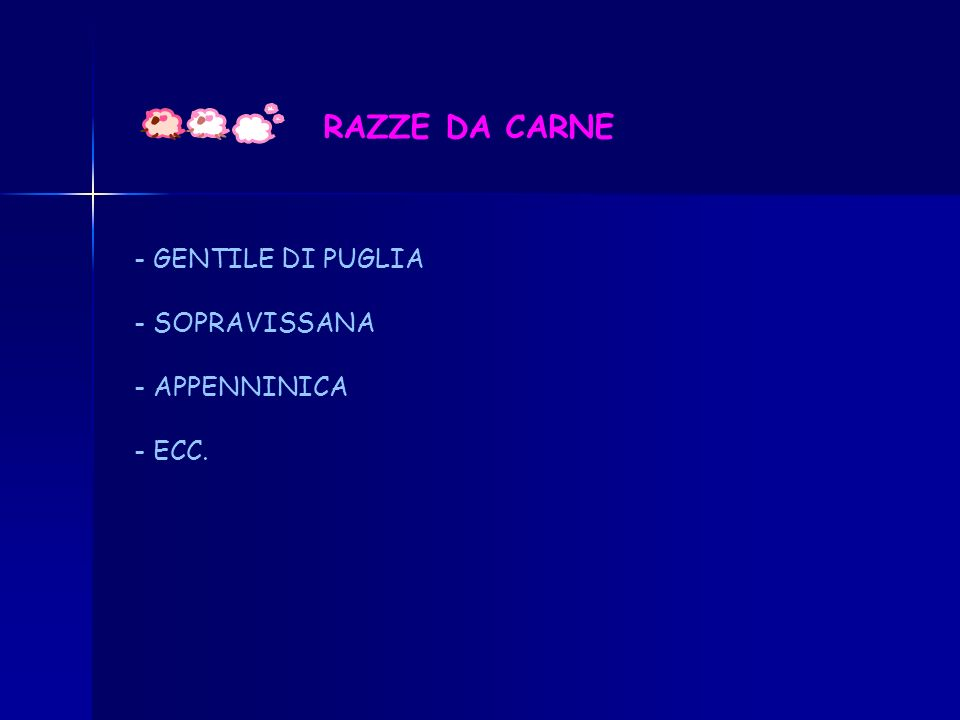 RAZZE DA CARNE GENTILE DI PUGLIA - SOPRAVISSANA - APPENNINICA - ECC.