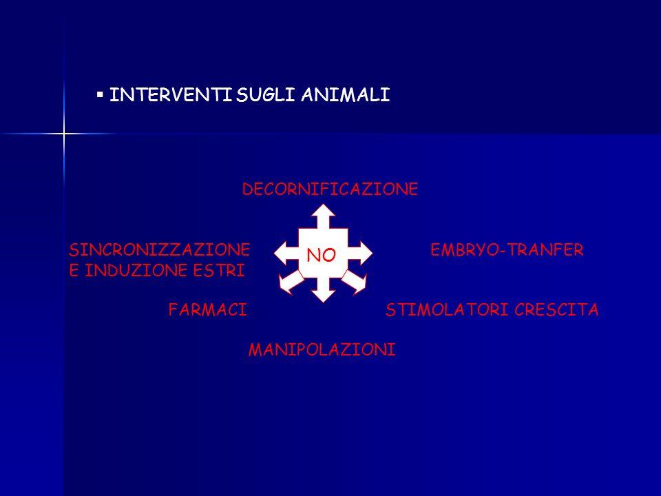 INTERVENTI SUGLI ANIMALI