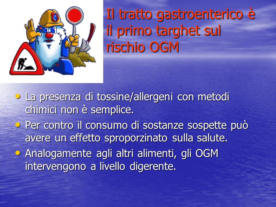 Il tratto gastroenterico è il primo targhet sul rischio OGM