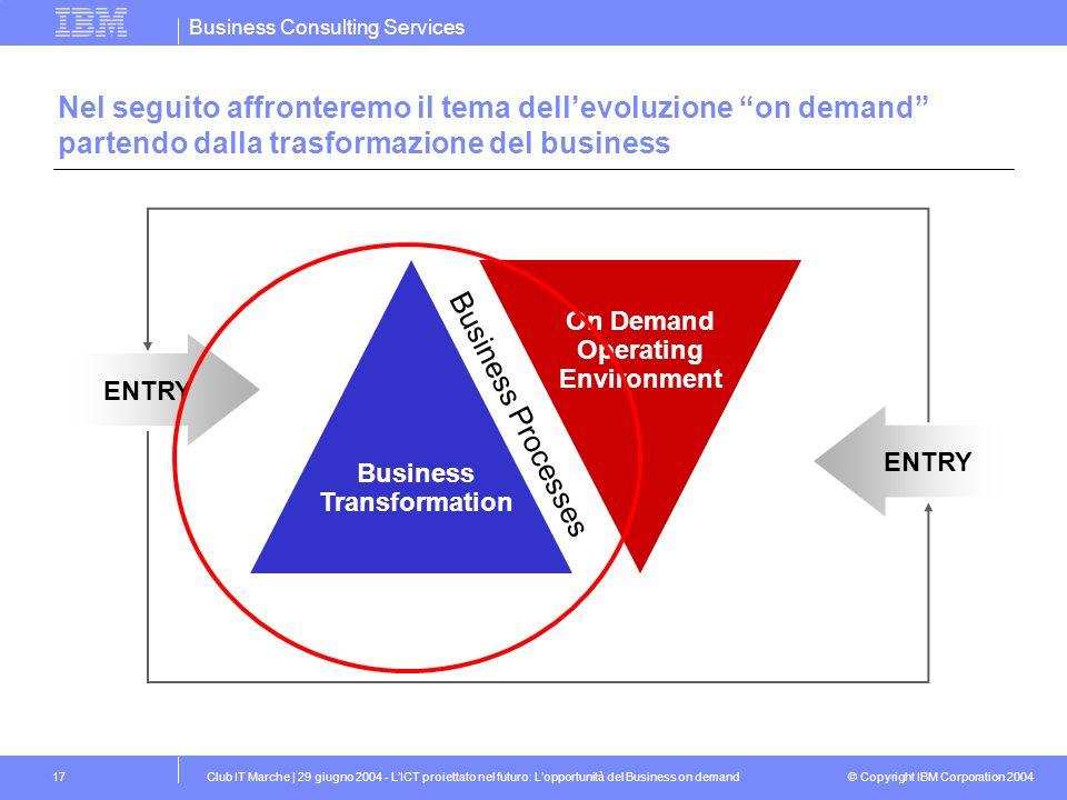 Nel seguito affronteremo il tema dell'evoluzione on demand partendo dalla trasformazione del business