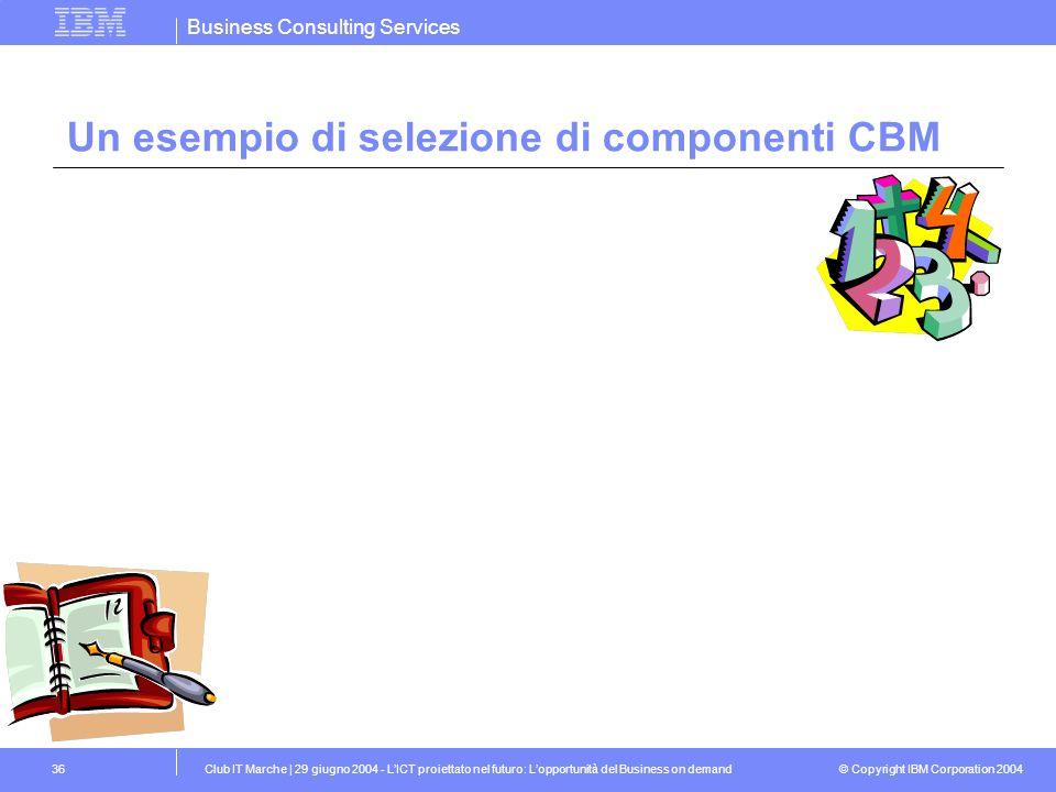 Un esempio di selezione di componenti CBM
