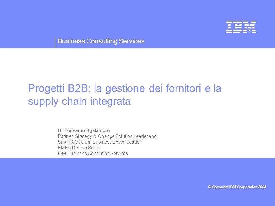 Progetti B2B: la gestione dei fornitori e la supply chain integrata