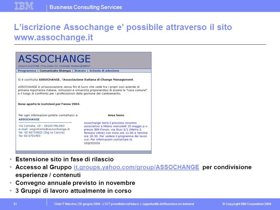 L'iscrizione Assochange e' possibile attraverso il sito www.assochange.it