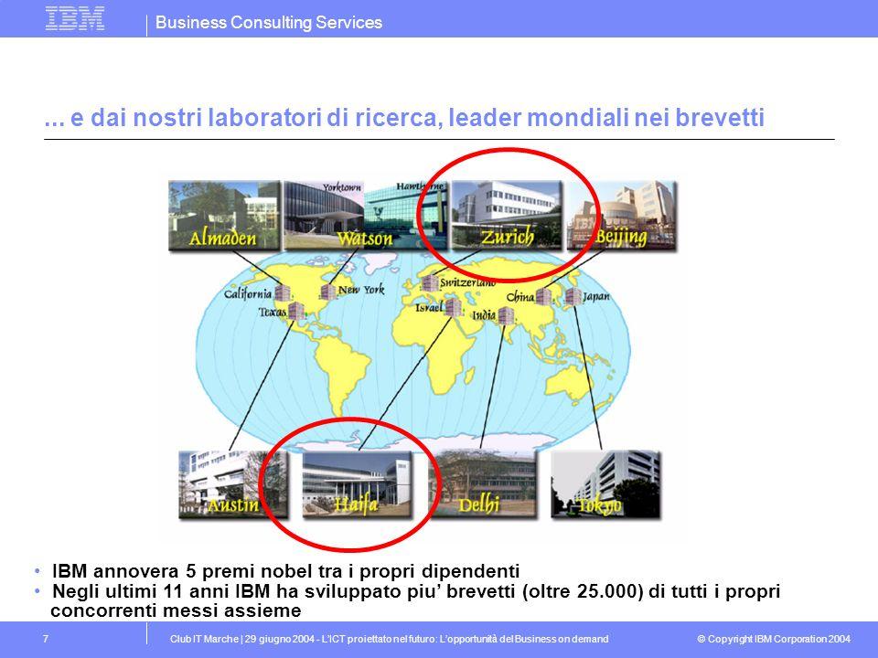 ... e dai nostri laboratori di ricerca, leader mondiali nei brevetti