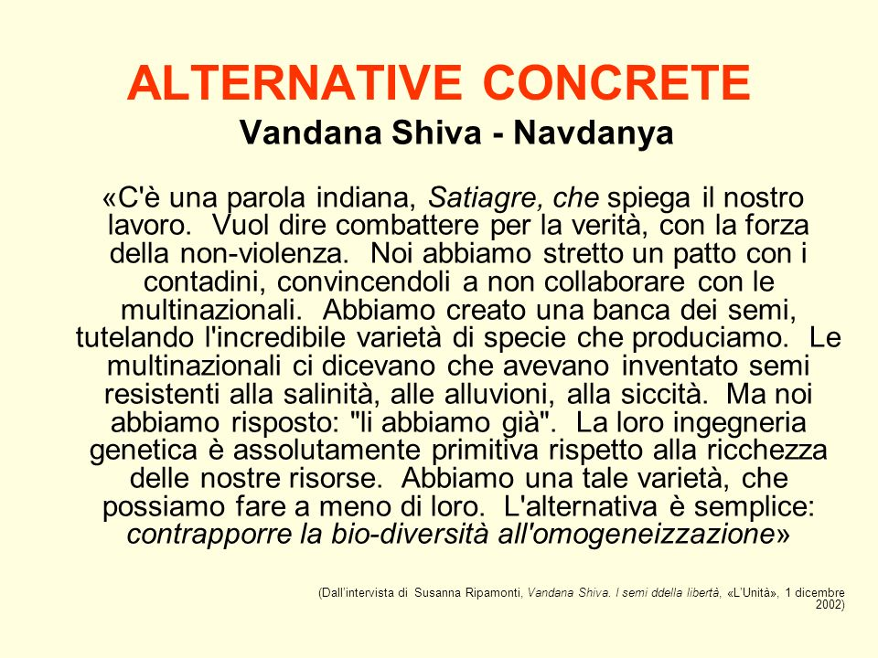 Vandana Shiva - Navdanya