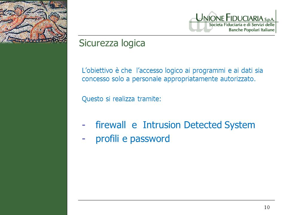 firewall e Intrusion Detected System profili e password
