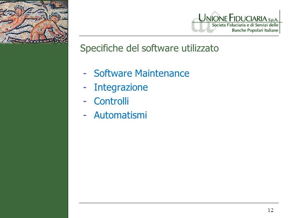 Specifiche del software utilizzato