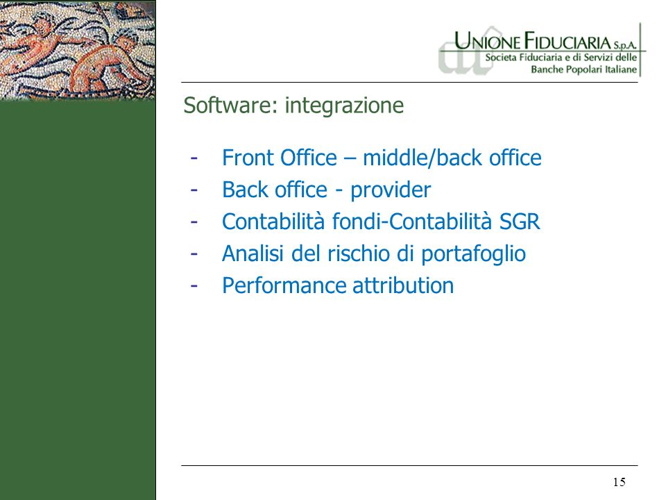 Software: integrazione