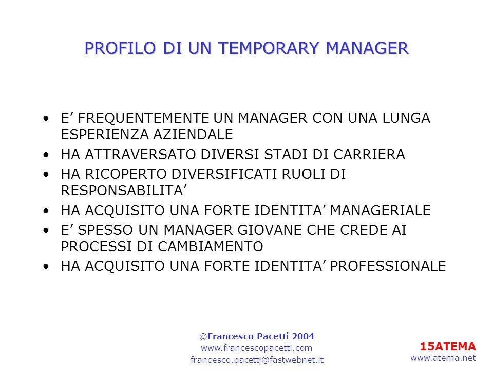 PROFILO DI UN TEMPORARY MANAGER